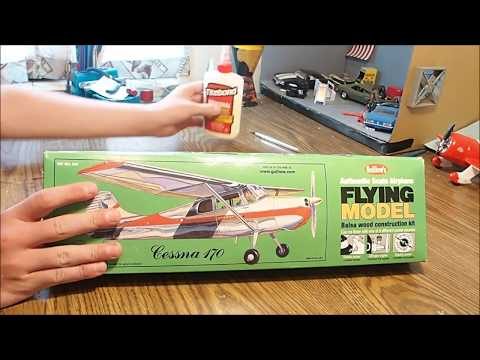 Cessna 170 Balsa Wood Construction Kit by Guillow's