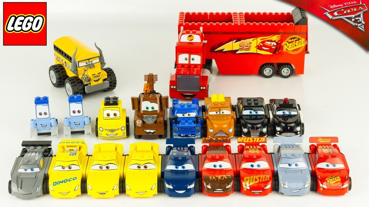 lego juniors cars 3 collection compl te v hicules jouet toy reviewfabulous flash mcqueen youtube. Black Bedroom Furniture Sets. Home Design Ideas