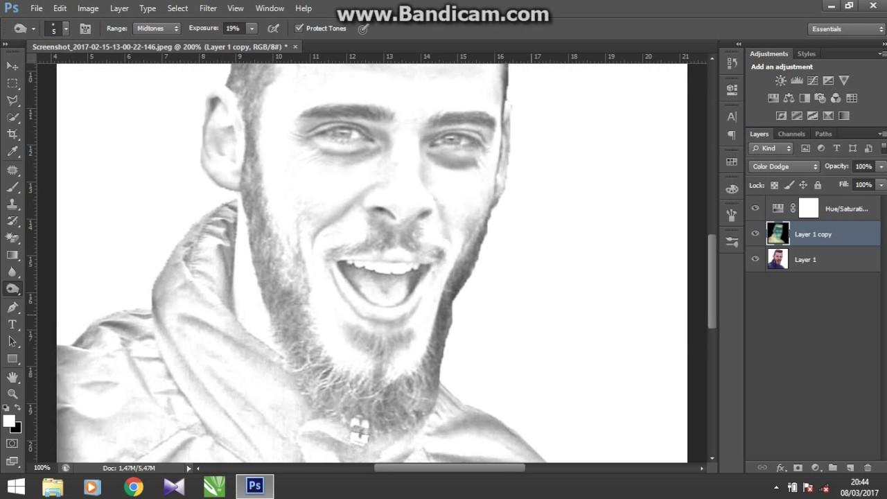 Cara Mengubah Foto Menjadi Seperti Sketsa Pensil Di Photoshop Youtube