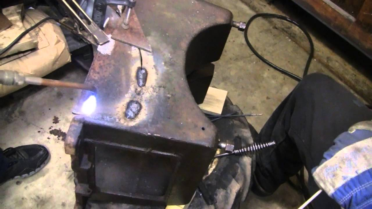 Cast Iron Welding Repair Bessemer Engine Youtube