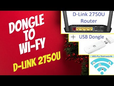 D-Link 2750U USB Dongle To Wi-Fy Configuration