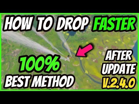 HOW TO LAND FASTER In FORTNITE BATTLE ROYALE! HOW TO LAND FAST In FORTNITE! *100% WORKS*