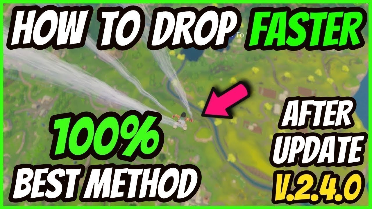 How To Land Faster In Fortnite Battle Royale How To Land Fast In