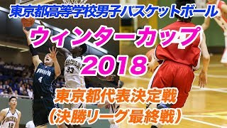 (2018年11月11日)都高校バスケットボール選手権大会兼全国高校選手権大会(ウィンターカップ)都代表決定戦