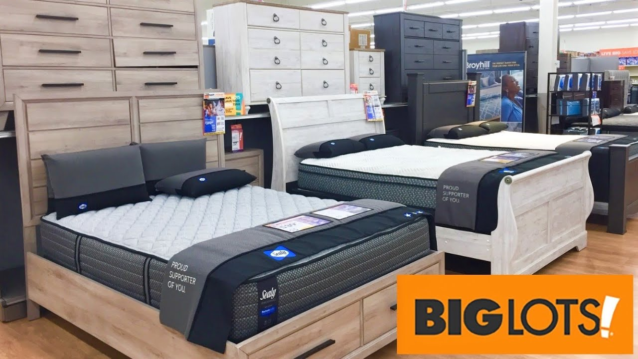 big lots beds bedroom furniture dressers bed frames shop with me shopping store walk through