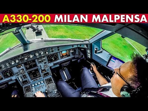 Piloting Air Italy AIRBUS A330 Into Milan