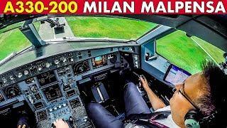 Piloting Air Italy AIRBUS A330 into Milan