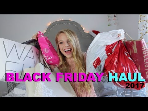 HUGE BLACK FRIDAY TRY-ON HAUL 2017 | Hollister, Old Navy, Ulta, Lizard Thicket Loft, GAP & more!