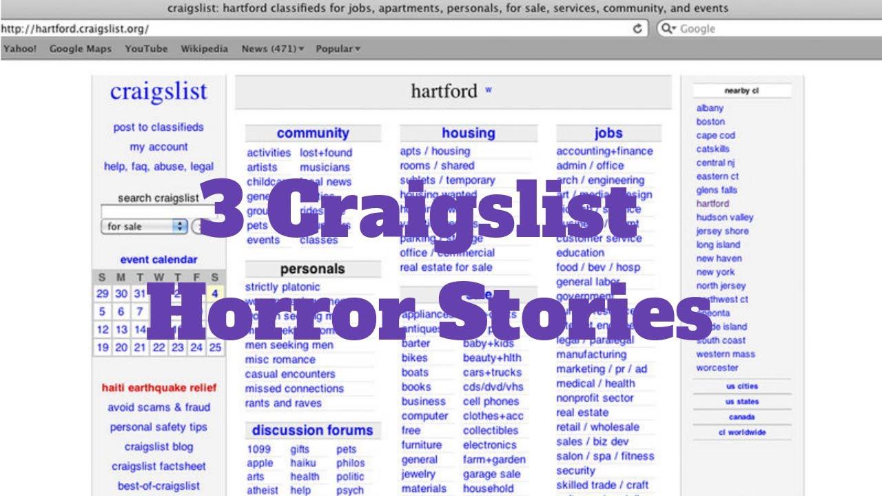 3 Craigslist Horror Stories