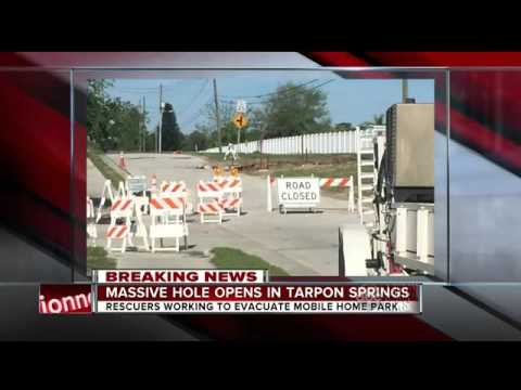 Large Sinkhole Forces Tarpon Shores Mobile Home Park To Evacuate In Springs