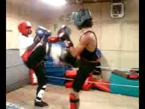 Bando kickboxing light sparring