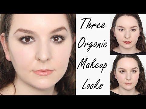 3 Looks Using Organic Makeup Products | Natural Makeup | Red Lips | Smoky Eyes | Inika Makeup