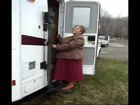 Elegant  Wheelchair Accessible Motorhome Airstream With Ricon Under Door Lift
