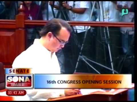 16th Congress Opening Session - Senate Pres. Franklin Drilon Opening Remarks [07|28|14]