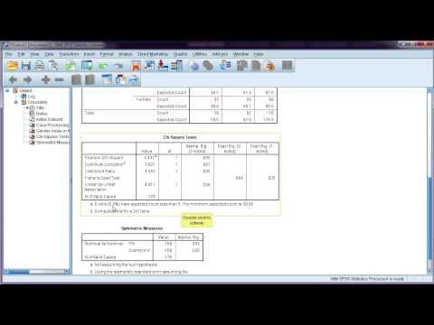 Chi-square test in SPSS + interpretation