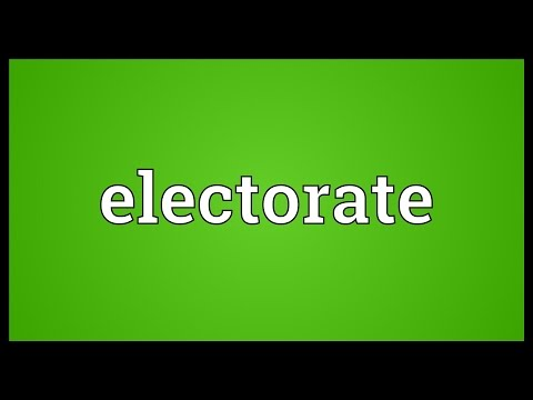 Electorate Meaning