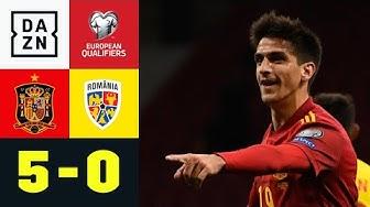 Doppelpack-Premiere von Moreno bei Spaniens Schützenfest: Spanien - Rumänien 5:0 | EM-Quali | DAZN