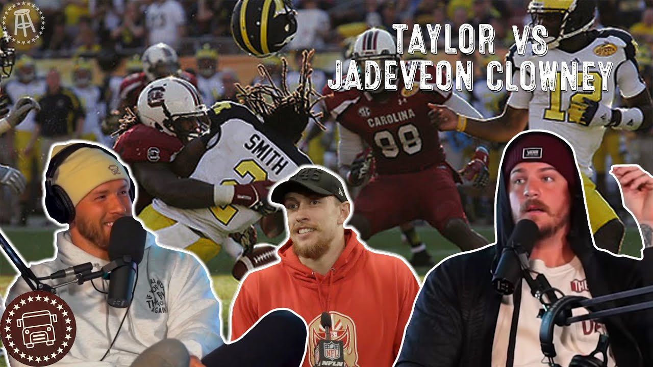 Taylor Lewan Explains the Infamous Jadeveon Clowney Outback Bowl Hit | Bussin With The Boys #049