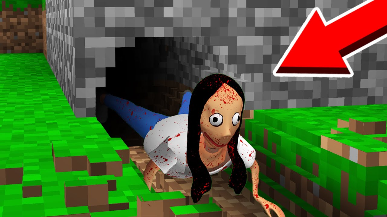 WHAT HAPPENED to MOMO in this SCARY TUNNEL? in Minecraft Noob vs Pro
