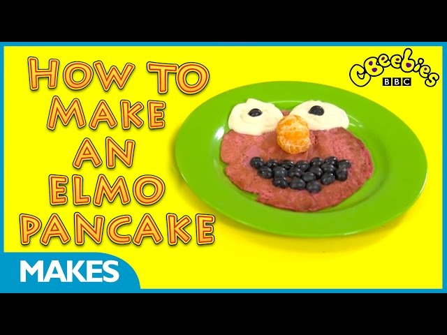 How to make an Elmo pancake | CBeebies Makes