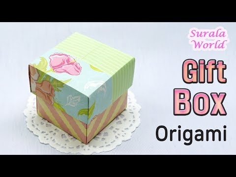 Gift Box DIY, Paper Box Origami (Two colored Lid with a sheet of paper)