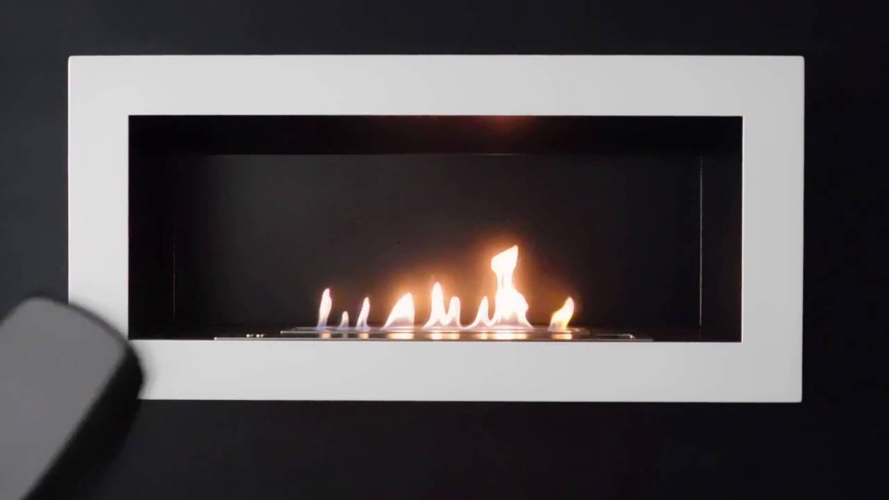 sasa l intelligent remote controlled ethanol wall fireplace youtube