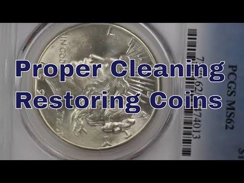 Proper Restoring Cleaning Peace Dollars - Before & After Restoration