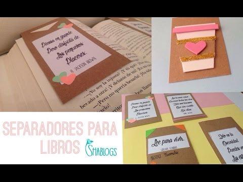 Como hacer separadores para libros i diy youtube - Como hacer un libro hueco ...