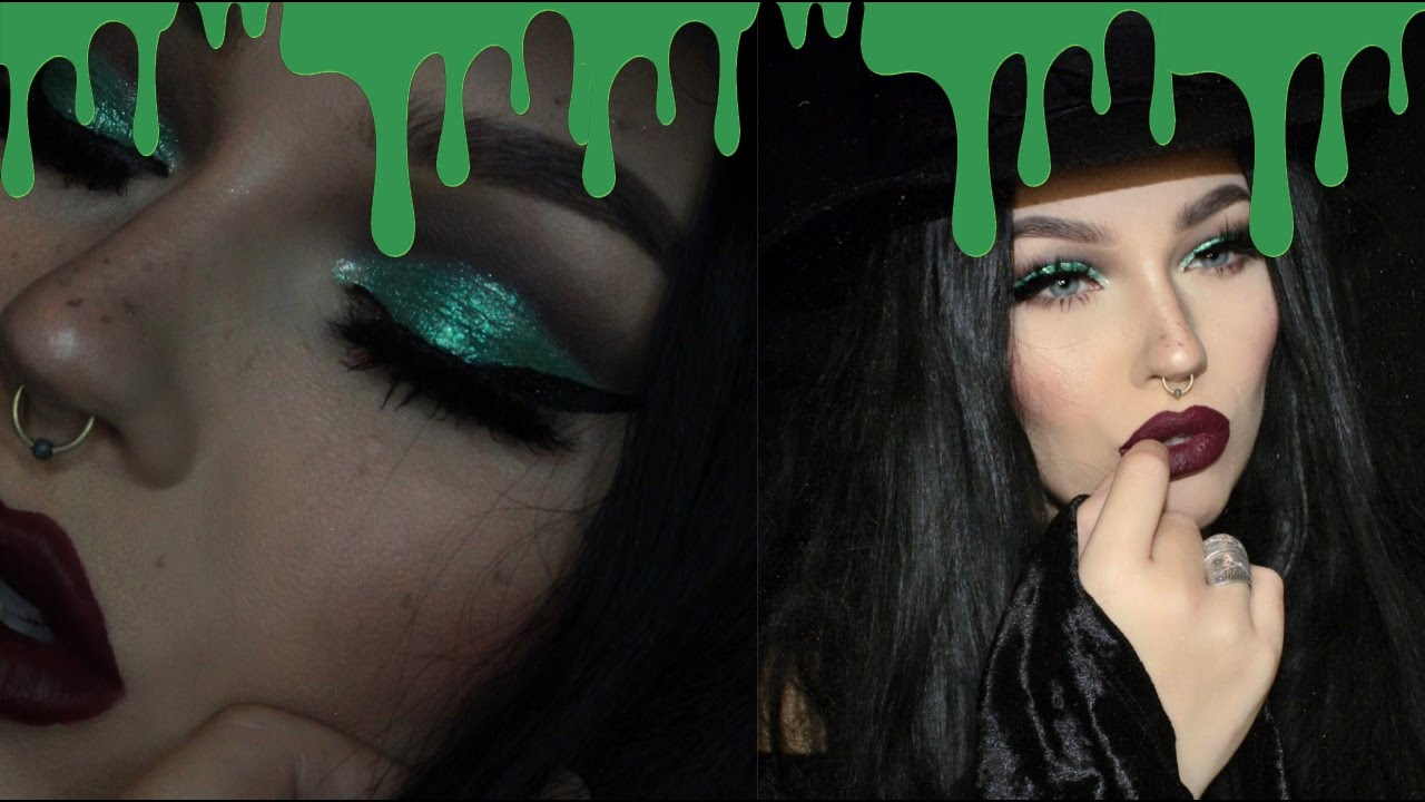 glam bad witch halloween makeup tutorial - YouTube