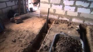Канализация начало, стена тамбура(Определился наконец с канализацией и расположением стен., 2014-06-14T05:02:16.000Z)