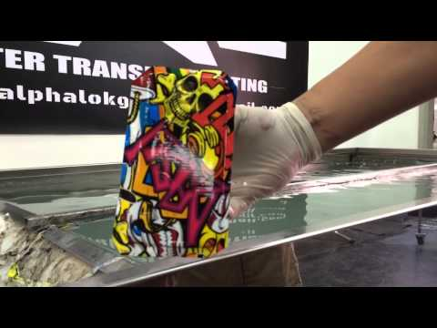 Water transfer printing on Samsung S5 back cover by alphalokgraphics workshop