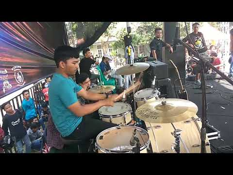 REAKSI band - drumm cover slank funky jungky+gadis sexsy