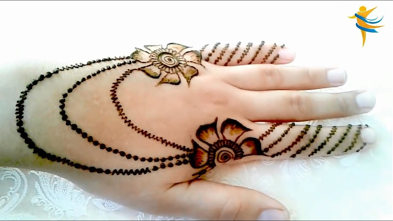 Very Easy Arabic Mehndi Design modern and light style for Hands