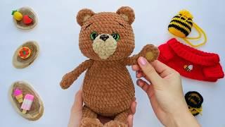"""Мастер-класс """"Медовый Мишка"""": Обзор игрушки, связанной по МК"""