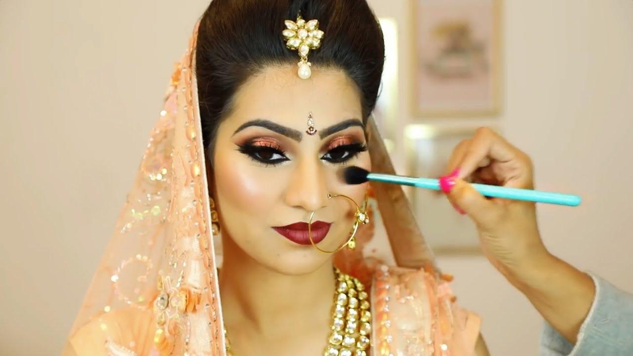 indian shimmery eyes makeup | step by step bridal makeup for beginners  (hindi) | shruti arjun anand