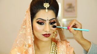 Indian Shimmery Eyes Makeup | Step By Step Bridal Makeup For Beginners (Hindi) | Shruti Arjun Anand