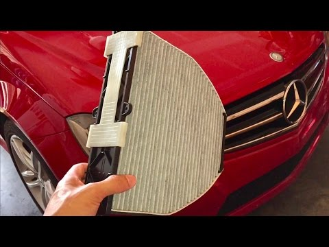 📕How to Install a Cabin Air Filter on a 2014 Mercedes C250 Sports Sedan Quick HD Review