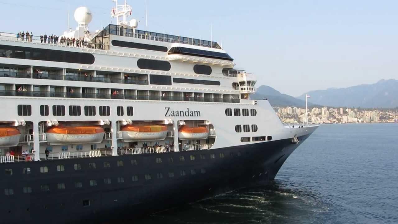 Cruise Ship Zaandam In Vancouver BC September YouTube - Zaandam ship
