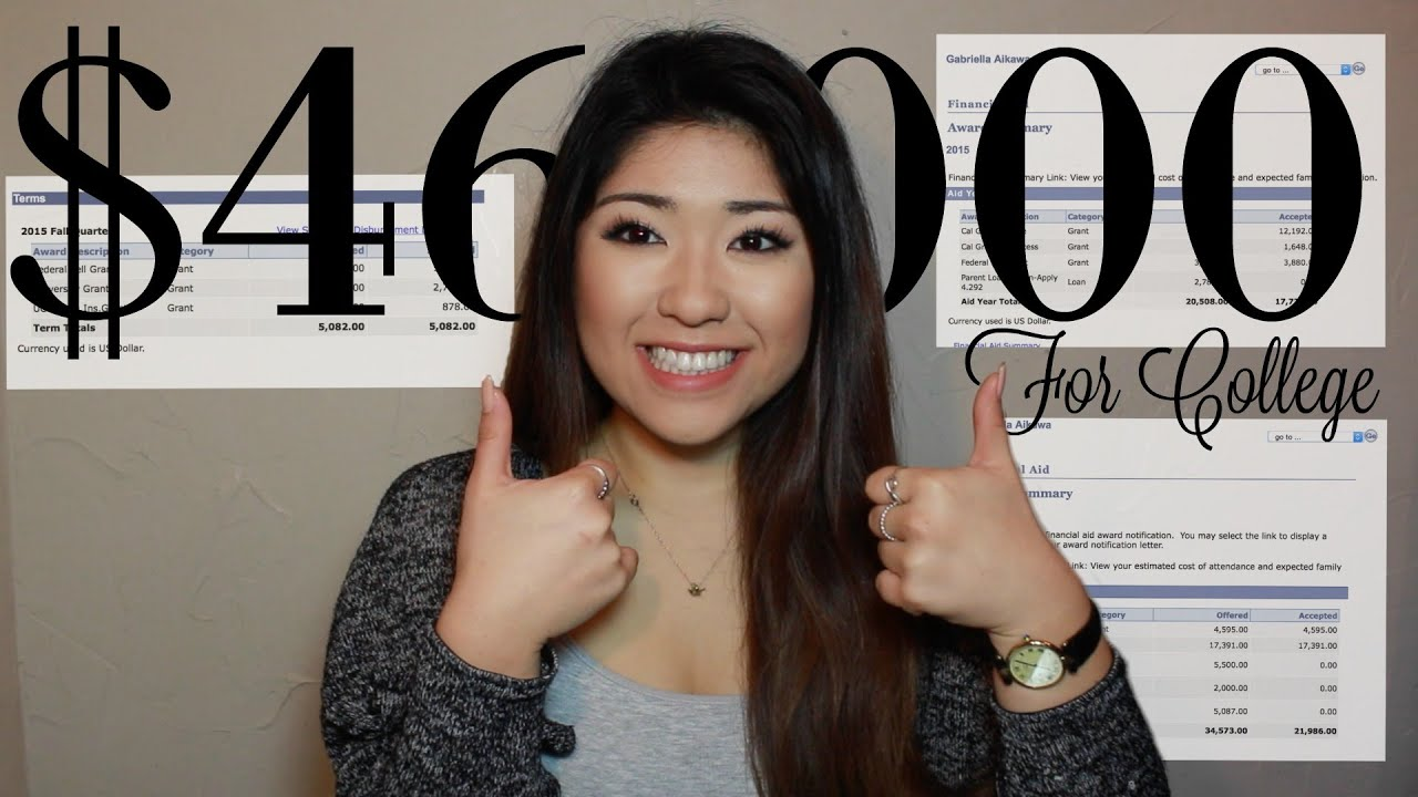 How I Received Over $46,000 to go to College!   No Loans