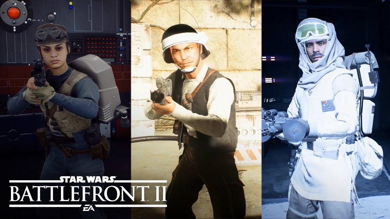 Star Wars Battlefront 2 - All Rebels Outfits/Skins/Armor ...