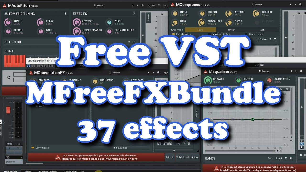Free VST - 37 effects - Melda Production Free FX Bundle