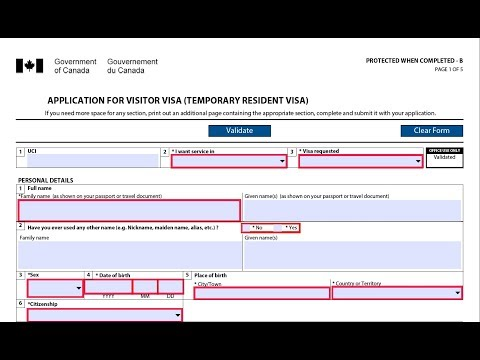 How to Complete IMM 5257-Canada Visitor Visa Application Form