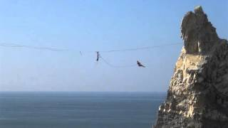 Highline Leash Fall / Rope Swing (15m Long Leash!)