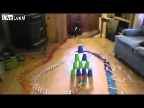 Just for fun. 1,000 popcicle Sticks explode in one slick domino like run