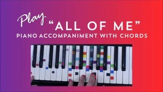 How to Play Sing All Of Me - John Legend | Easy Piano Chord Lesson | IVOREEZ