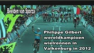 WK 2012 Valkenburg - De beste wint. BMC renner Philippe Gilbert (beelden Sporza)