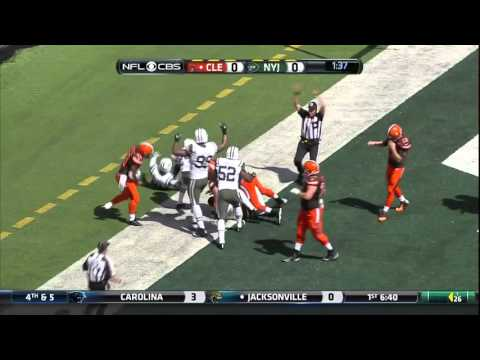 Cleveland Browns Josh Mccown Helicopters vs Jets.