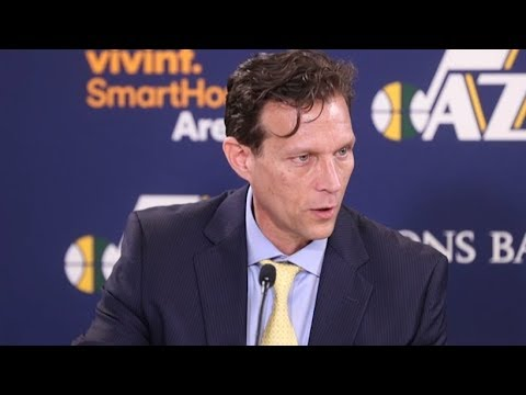 Quin Snyder Postgame Interview / Jazz vs Pistons