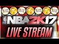 NBA 2k17 MyPark   MyTeam Stream  AMAZING DUNKS