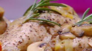 دجاج بالبصل المكرمل والمشروم - غادة التلي